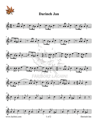 Darineh Jan Sheet Music