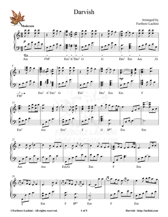 Darvish Sheet Music