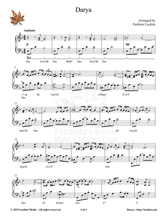 Darya Sheet Music