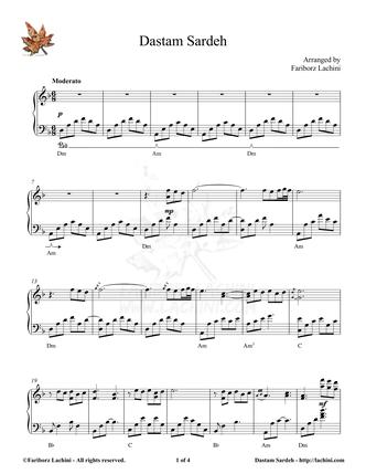Dastam Sardeh Sheet Music