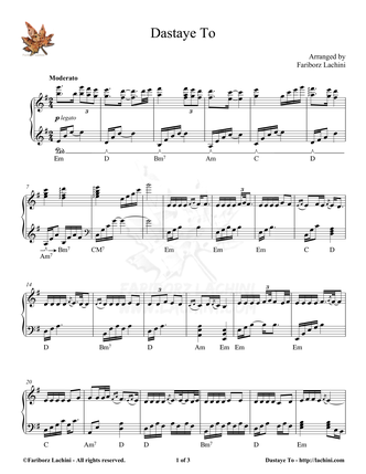 Dastaye To Sheet Music