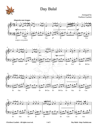 Dey Balal Sheet Music