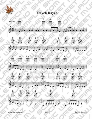 Dayeh Dayeh 3 Sheet Music