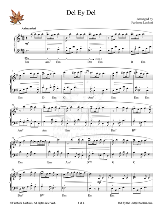 Del Ey Del Sheet Music