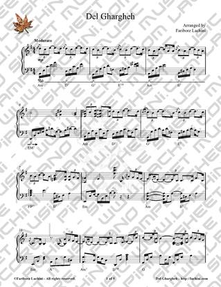 Del Ghargheh Sheet Music