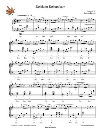 Delakam Delbarakam Musiknoten