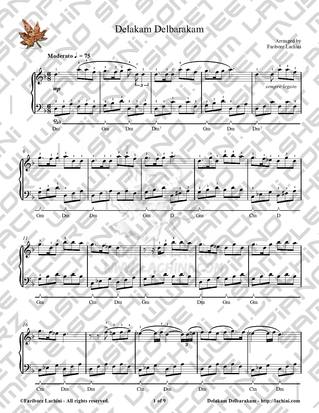 Delakam Delbarakam Sheet Music