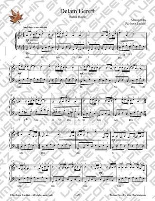 Delam Gereft Sheet Music