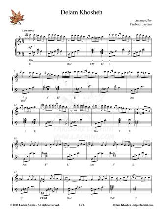 Delam Khosheh Sheet Music