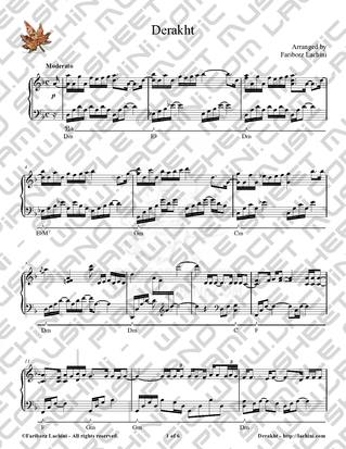 Derakht Sheet Music