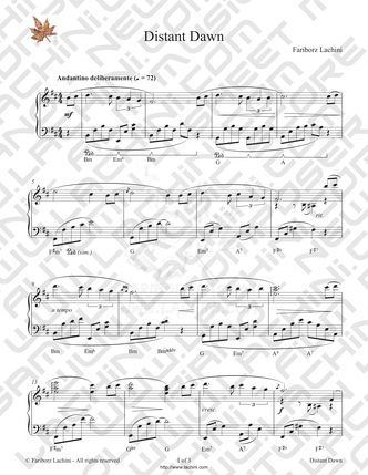 Distant Dawn Sheet Music