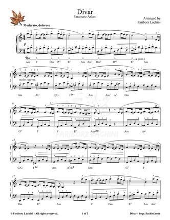 Divar Sheet Music