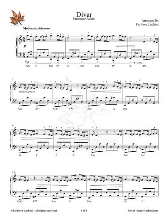Divar 4 Sheet Music