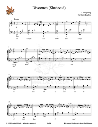 Divooneh Sheet Music