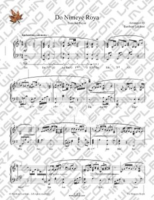 Do Nimeye Roya Sheet Music