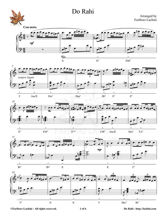 DoRahi Sheet Music