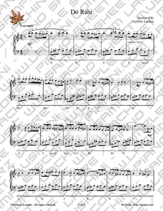 Do Rahi Sheet Music