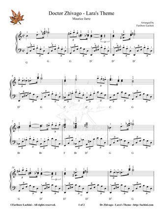 Dr. Zhivago - Laras Theme Sheet Music