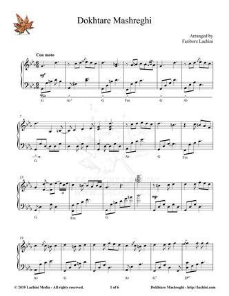 Dokhtare Mashreghi Sheet Music