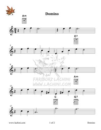 Domino Sheet Music