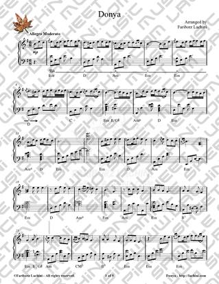 Donya Sheet Music