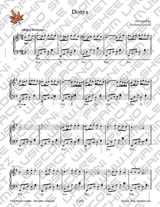 Donya 2 Sheet Music