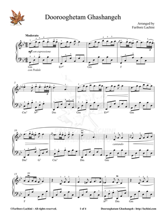 Doorooghatam Ghashangeh Sheet Music