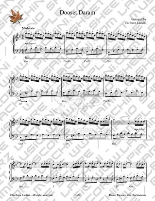 Dooset Daram Sheet Music