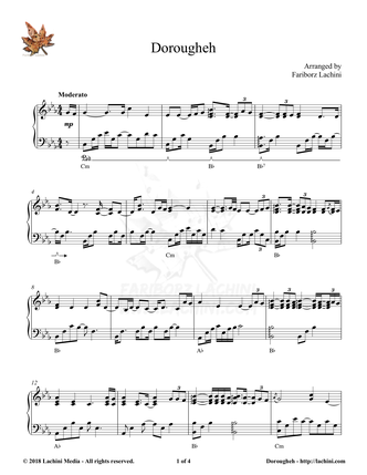 Dorougheh Sheet Music
