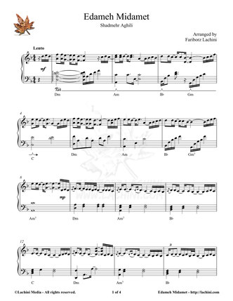 Edameh Midamet Sheet Music