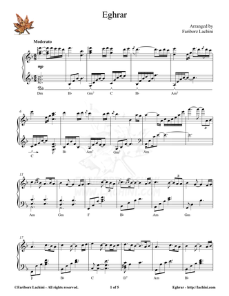 Eghrar Sheet Music