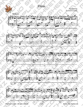 Ehsas Sheet Music