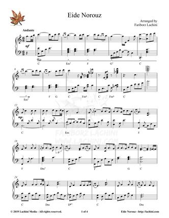 Eide Norouz Sheet Music