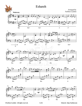 Eshareh Sheet Music