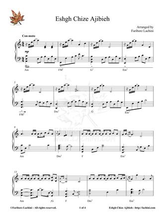 Eshgh Chize Ajibieh Sheet Music