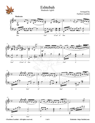 Eshtebah Sheet Music
