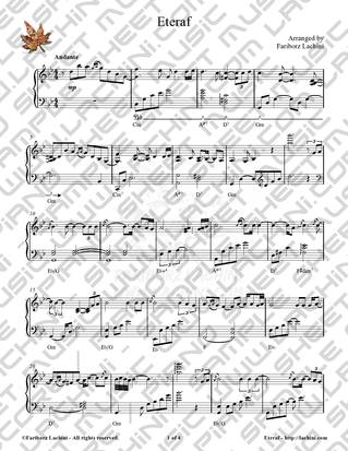 Eteraf Sheet Music
