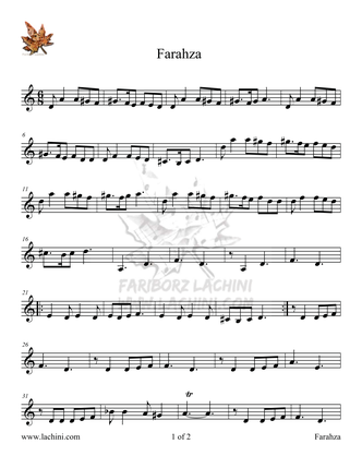 Farahza Sheet Music