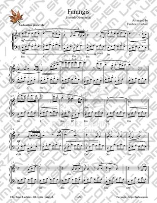 Farangis Sheet Music