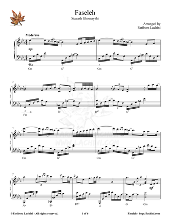 Faseleh Sheet Music