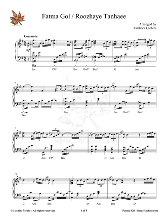 Fatma Gol Sheet Music