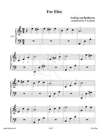 Fur Elise 2 Sheet Music