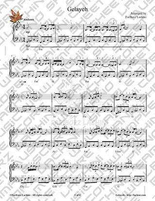 Gelayeh Sheet Music