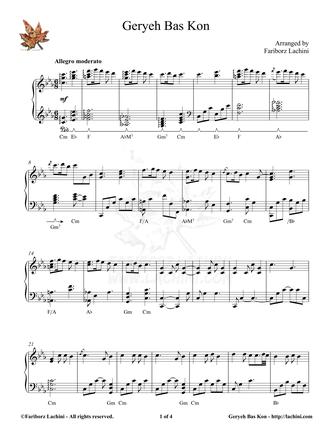 Geryeh Bas Kon Sheet Music
