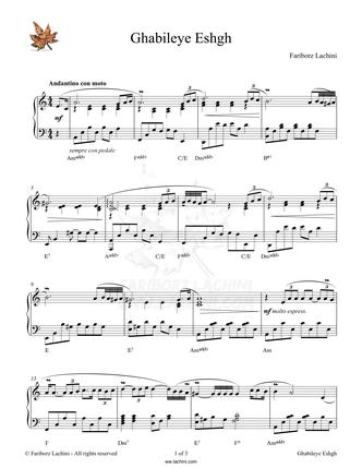 Ghabileye Eshgh Sheet Music