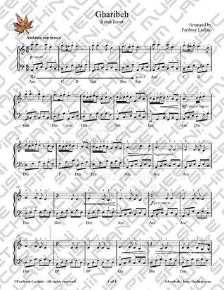 Gharibeh Sheet Music