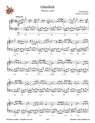 Gharibeh 3 Sheet Music