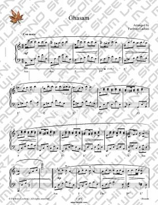 Ghasam Sheet Music