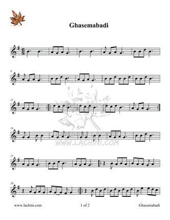 Ghasemabadi Sheet Music
