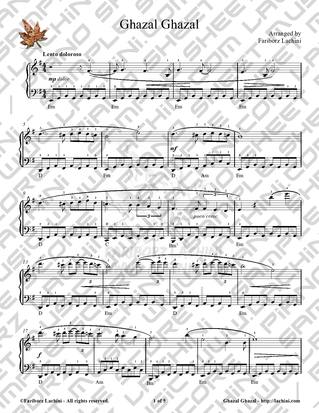 Ghazal Ghazal Sheet Music